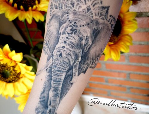 Tatuaje elefante con mandala