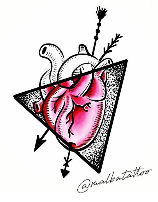 Corazón con flechas