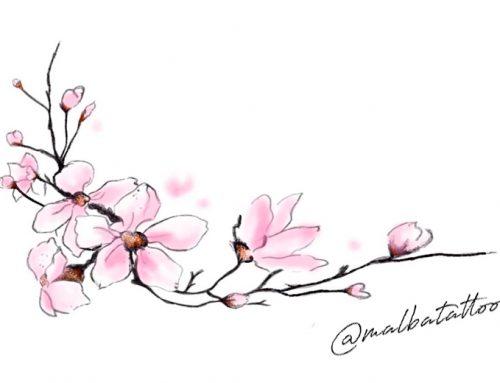 Diseño flor de cerezo