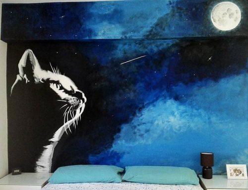 Mural El gato y la luna