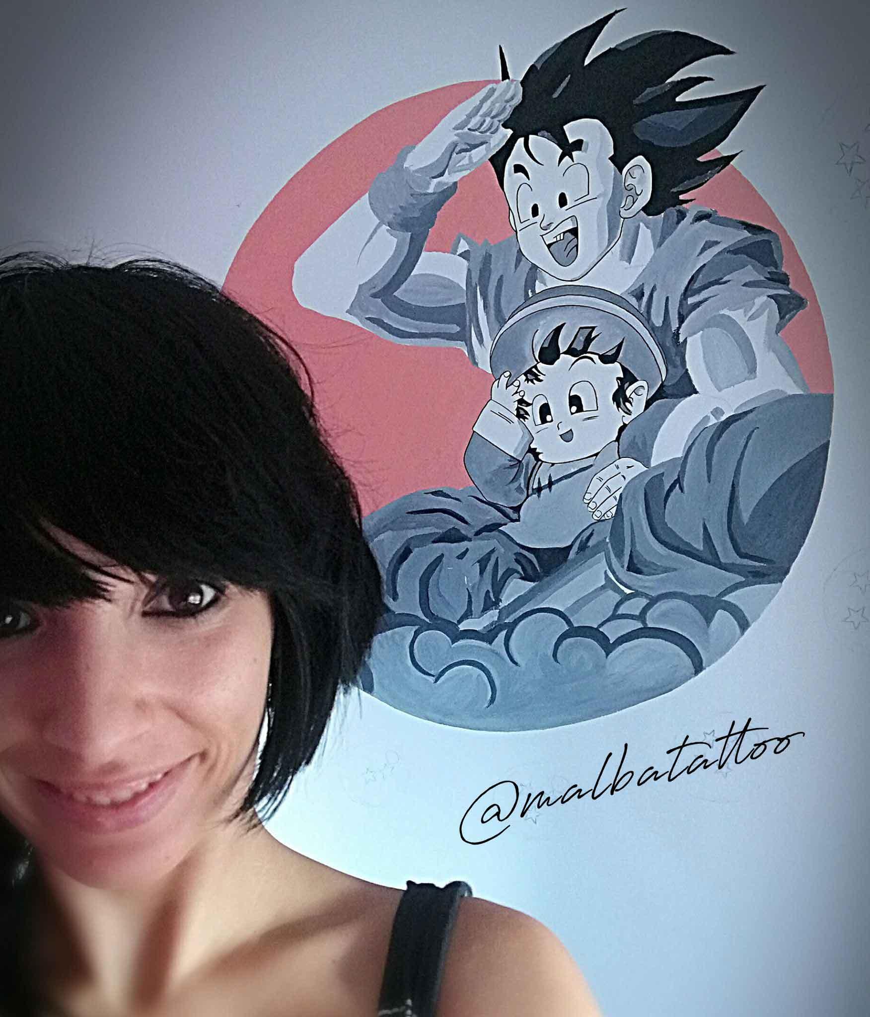 Goku para Alba