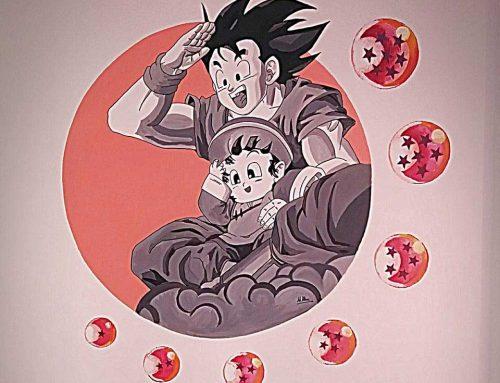 Mural Goku para Alba