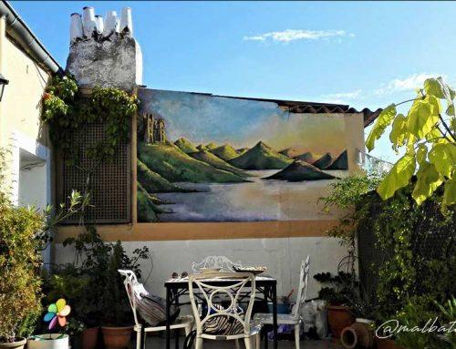 Mural exterior paisaje
