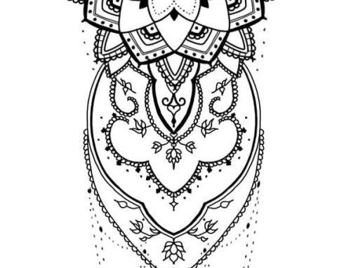 Diseño mandala con cadenas