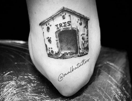 Tatuaje casita de mascotas